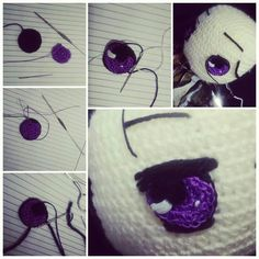 Anime eyes in crochet amigurumi