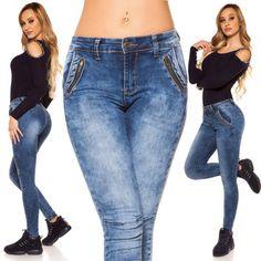 Rifle so zipsami Jeans Pants, Mom Jeans, Skinny Jeans, Slim, Boutique, Fashion, Tunic, Flare Leg Jeans, Moda