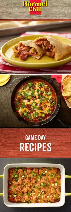 Take your football party to the flavor end zone with these quick game day bites. They're bold and delicious enough to unite fans of both sides.  Easy Dinner Recipe | Mini Calzones | Queso Fundido Con Chili a la Tequila | Chili Dog Bake | Game Day Recipes