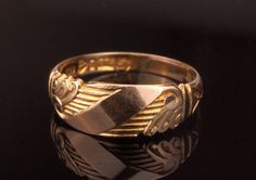 Antique Victorian Band Ring 1887 Rose Gold by BelmontandBellamy