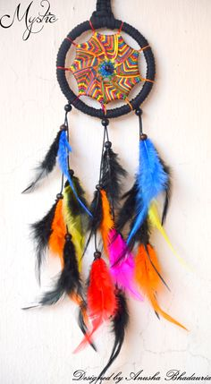 Mystic Black & Vibgyor Dreamcatcher Call us to book this Dreamcatcher on 909 659 5656. #dreamcatchers #dreamcatchersindia #dreamcatcherindia #mystic_dreamcatchers #mystic #hippie #trippy #psychedelic #goa #mumbai #pune #delhi #gurgaon #handmade #craft #india #indian #art #nativeamerican #dreamer #cosmic #universe #green #blue #feathers #colorful #nativedreamcatchers #bohemian #bohemia #nativeamericandreamcatcher