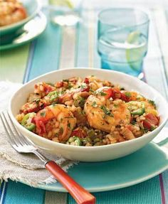 Slow Cooker Shrimp Jambalya #HeartHealthy