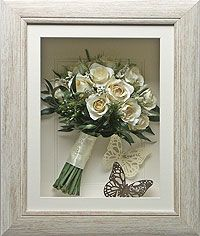 Preserving your wedding bouquet is a wonderful way to preserve the memories of your big day. You may include photos, invitations, place cards, your order of service, cake toppers or any other item from your big day to make a truly unique keepsake.