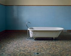 Architect Christopher Payne's haunting photographs of abandoned asylums- patient Bathtub, Fairfield State Hospital Newtown, Connecticut, 2003 Abandoned Asylums, Abandoned Buildings, Abandoned Places, Urban Decay, Gothic Castle, Tunnel Of Love, Psychiatric Hospital, Insane Asylum, Abandoned Hospital