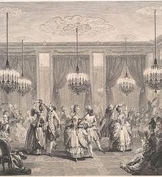 Le Bal Paré by Antoine-Jean Duclos (French, Paris, 1742–1795) Etching after Augustin de Saint-Aubin (French, Paris 1736–1807 Paris) Date: 1774