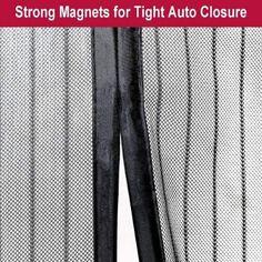 Aloudy Magnetic Screen Door Fits Doors Up to 36 x 98 MAX, Full Frame Velcro Instant Mesh Screen Door, Magnetic Screen Door, Screen Doors, Patio Curtains, Diy Magnets, Door Ideas, Frame, Stuff To Buy, Tops