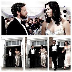 Jack and Angeles wedding Booth And Bones, Booth And Brennan, Bones Tv Series, Bones Tv Show, Movies Showing, Movies And Tv Shows, Hodgins And Angela, Tj Thyne, Michaela Conlin