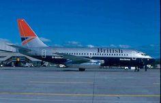 British Airways, G-BKYA, Boeing 737-236, 23159/1047, 1985, test livery