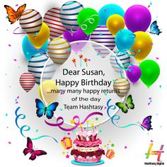 Joy is what we wish for you, Success in everything you do, May all your Dreams come true, And Luck never leave you ! Hashtasy wishes our Director & HR Advisor, Susan Tripathi a very happy birthday ! Happy Returns, Never Leave You, Very Happy Birthday, Wishes For You, Dreaming Of You, Success, Joy, Dreams, Glee