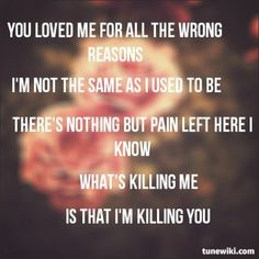 Lyric Art of Killing You by Asking Alexandria