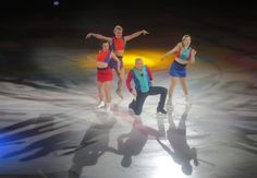 Jeremy Abbott (center) dances with (from left) Ashley Wagner, Madison Hubbell and Gracie Gold in the finale 2017 Stars on Ice In Dreams: Review by The He Said She Said Experience image by The He Said She Said Experience