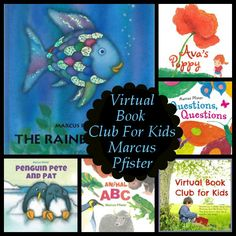 March Virtual Book Club: Marcus Pfister - Check out some of his books and when to join up! - 3Dinosaurs.com Reading Themes, Book Themes, Reading Activities, Activities For Kids, Educational Activities, Childrens Books, Kid Books, Story Books, Toddler Arts And Crafts