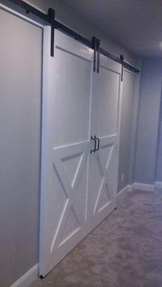 Custom Pine Double Barn Doors w/Lower X design