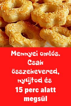 Nagyon nagyon finom! #omlós #sós Cookie Recipes, Dessert Recipes, Desserts, Homemade Cookies, Savory Snacks, Creative Food, Diy Food, Healthy Drinks, Finger Foods