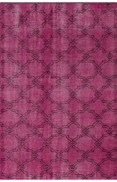 gilrs roomRugs USA Claude Modena Overdyed Pink Rug