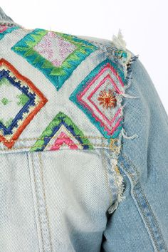 White Crow Little Wing Embroidered Jean Jacket at LuLus.com