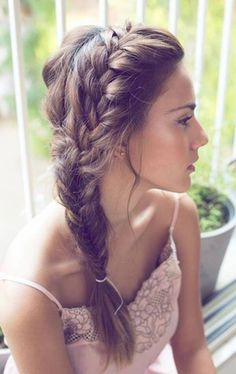 Braid braids hairstyles simply summer summer braids summer braid hairstyles summer hairstyles teasing romantic playful choose your image! in today s article we will offer you a few win win options braids Wedding Bun Hairstyles, Evening Hairstyles, Box Braids Hairstyles, Pretty Hairstyles, Short Hairstyles, Locks Hairstyle, Summer Hairstyles For Medium Hair, Hairstyle Hacks, Stylish Hairstyles