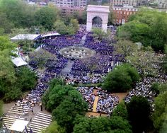 NYU Graduation @ Washington Square Park. Wow, can't believe this will be 4 years from now!