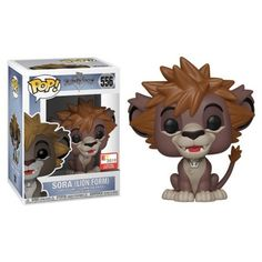 Features Sora in his lion form (looking very much like Simba) as he appears when travelling through the Pride Lands in Kingdom Hearts II & III, where his clothes magically change him into a brown lion cub. Overwatch Widowmaker, Disney Kingdom Hearts, Topper, Pop Vinyl Figures, Funko Pop Vinyl, New Toys, Cool Toys, Mickey Mouse, Lion Sculpture
