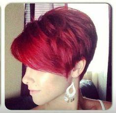 12.Red Pixie Hair Cut