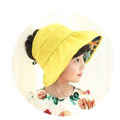 Beach Festival Sun Bucket Hat Summer Girl Adjustable Cap UV Protection Foldable