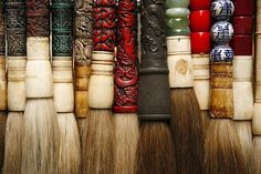 Chinese calligraphy brush - Pincel chinês na decoração