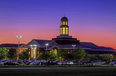 Trible Library at Sunset on the campus of Christopher Newport University - by JerryGammon, via Flickr