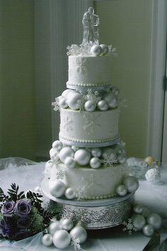 Winter themed wedding cake!