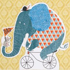 Treat dad to a stellar card this fathers day by shopping at Paperchase. We've got humorous cards, arty cards, cheeky cards and much more! Elephant Illustration, Children's Book Illustration, Elephant Love, Little Elephant, Kids Graphic Design, Animal Magic, Paperchase, Retro Ads, Bike Art