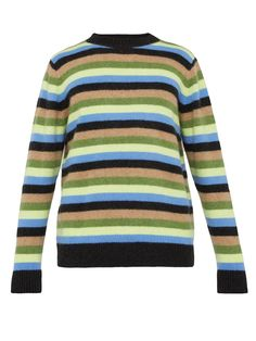 Inch striped cashmere sweater   The Elder Statesman   MATCHESFASHION.COM US Leg Stretching, Slim Legs, Cashmere Sweaters, Denim Jeans, Cotton, Shirts, Wolf, Fashion, Thin Legs