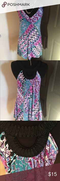 Candies Dress Top 🌸 Welcome and thank you for checking out my closet 🌸  Please read below if you are interested in the item:  All items are 💯% Authentic!   Always open to reasonable offers and possible trades.   🛍 Up for sale: cute and comfortable. Excellent condition. Polyester and spandex. Size large Candie's Tops Camisoles
