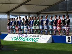 The full line up of 2014 Highland Dancing World Champions and runners-up.