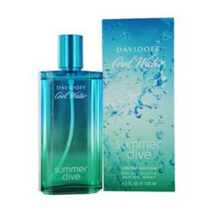 Cool Water Summer Dive by Zino Davidoff for Men 4.2 oz Eau De Toilette Spray launched in 2006. Its fragrance are classified to be within the family of citruses or fruits and blends notes of Citron, Vetiver, Bergamot, Cedar, Mint, Musk, Juniper, Lavender.  http://wemakebeauty.com/cool-water-summer-dive-by-zino-davidoff-for-men-4-2-oz-eau-de-toilette-spray.html