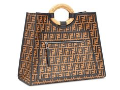 f1a867b730 Fendi S S18 Leather Runaway Shopper