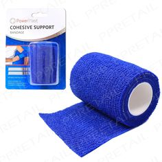 2x blue cohesive #+support+ bandage #athletic strap sports self adhesive #flexibl,  View more on the LINK: 	http://www.zeppy.io/product/gb/2/191809052419/