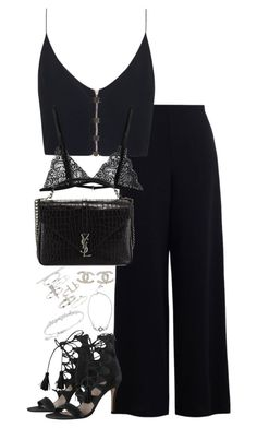 """Untitled #2284"" by theeuropeancloset on Polyvore featuring Zimmermann, Yves Saint Laurent, Chanel, Topshop, Michael Kors and Swarovski"