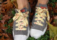Liesl does it again:  homemade shoelaces.  Brilliant!  Stocking stuffer, Easter basket, kid birthday party gift, party favor...the possibilities are endless really.