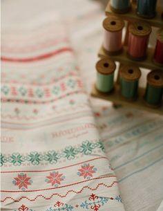 Cotton Linen Fabric Cloth -DIY Cloth Art Manual Cloth-Cross-Stitch 55x19 Inches. $7.90, via Etsy.