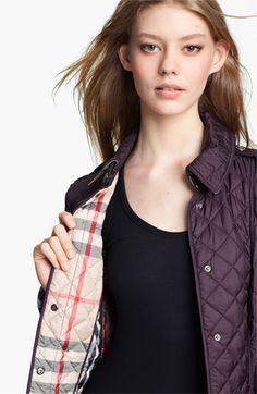 Burberry Brit Patch Pocket Quilted Coat | Nordstrom