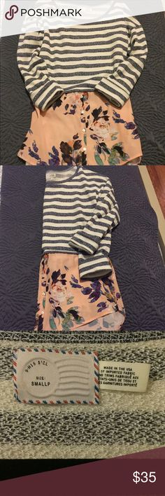 EUC Anthropologie illusion top EUC and just adorable! Perfect for transitioning into the Spring! Look to bundle with other essentials in my closet :) all offers considered! Anthropologie Tops Tees - Long Sleeve