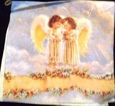 Angels Decoupage Art, Paper Napkins, Angels, Painting, Paper Towels, Angel, Painting Art, Paintings, Painted Canvas