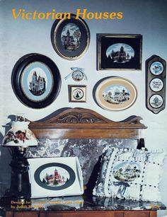 "Vintage Judith Kirby Designs Cross Stitch Patterns ""Victorian Houses"" 16 Charts #JudithMKirbyDesigns"