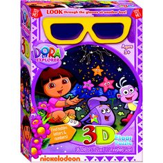 Dora the Explorer 32 Piece 3D Floor Puzzle: Floor puzzles are full of surprises! Put together the colorful scenes and then slip on the included 3D glasses for a magical experience! Dora and her friends look so lively!  http://www.calendars.com/Kids-TV/Dora-the-Explorer-32-Piece-3D-Floor-Puzzle/prod201200010888/?categoryId=cat00071=cat00071