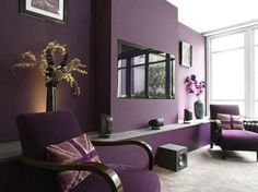 1000 images about color scheme purple on pinterest for Black and purple living room ideas