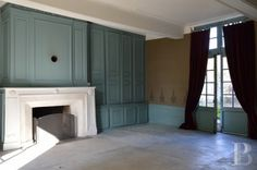 I *adore* the blue of these walls. A presbytery for sale in the Champagne region of France.