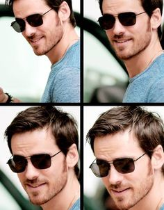 It seems a shame to hide those gorgeous eyes but this is a pretty good look on him. #ouat