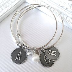 Best Selling Initial Bangles + 2 FREE Dangles!   Shop handmade & boutique clothing deals on Jane.com