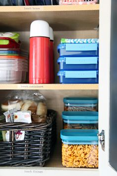 Back To School Organization - Lunch Cabinet