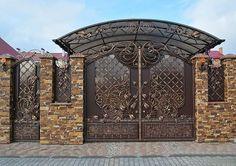 New main entrance door garden Ideas Steel Gate Design, Front Gate Design, Main Gate Design, House Gate Design, Door Gate Design, Fence Design, Main Entrance Door, Entrance Gates, Classic House Design