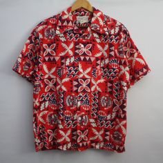 VTG 70s Matadors of 74 Hawaiian Shirt Mens SZ L Tiki Surf Surfer Wilkins Hawaii